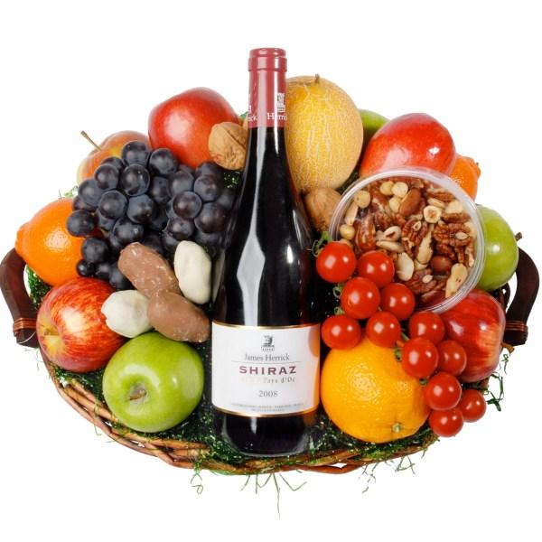 Fruitmand rode wijn de Luxe bestellen of bezorgen