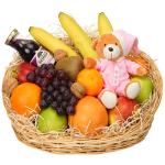 Geboorte fruitmand meisje bestellen of bezorgen