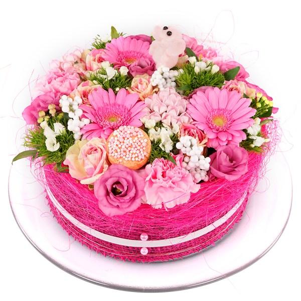 Geboorte meisje bloementaart bezorgen bestellen of bezorgen