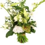 Geplukt boeket witte bloemen bestellen bestellen of bezorgen
