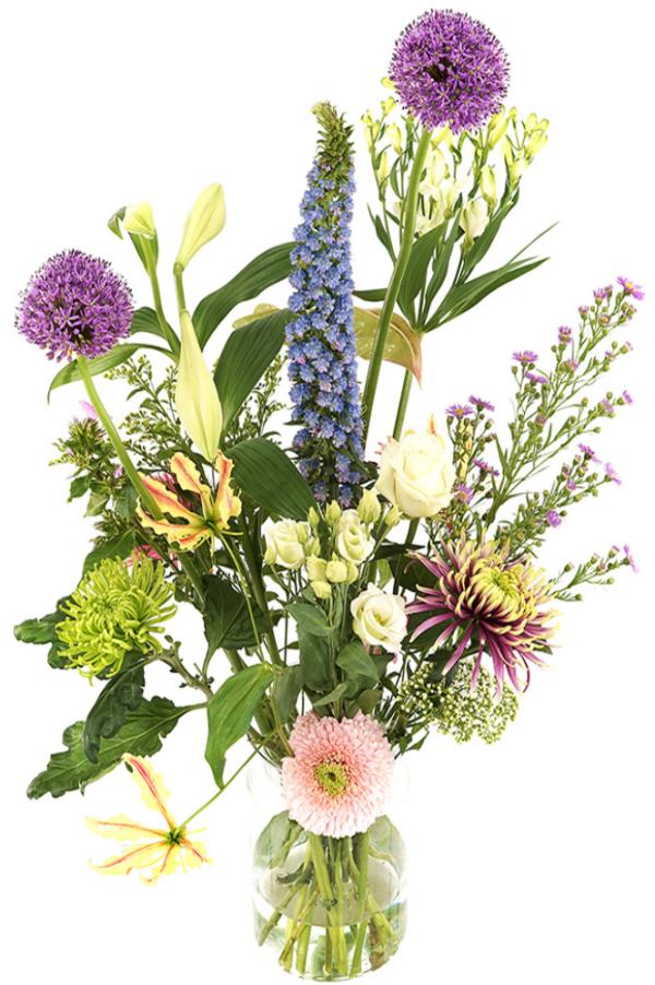 Geplukt tuin bloemen pastel bont bezorgen bestellen of bezorgen
