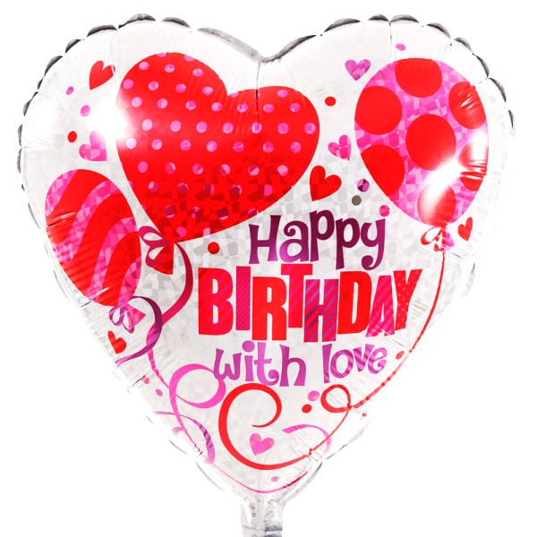 Happy Birthday liefdes ballon bestellen bestellen of bezorgen