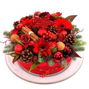 Kerst bloementaart bestellen bestellen of bezorgen