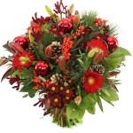 Kerstboeket rode bloemen bezorgen bestellen of bezorgen