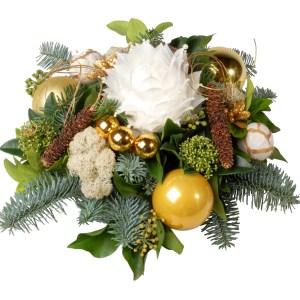 Kerststuk wit goud bestellen bestellen of bezorgen