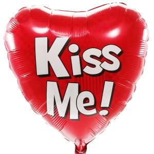 Kiss Me helium balloon bestellen of bezorgen