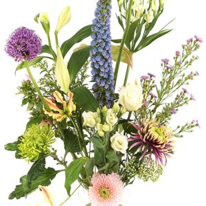 Moederdag pastel bont geplukte bloemen versturen bestellen of bezorgen