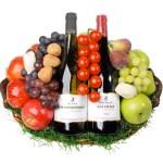Rode en Witte wijn Fruitmand bestellen of bezorgen