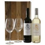 Rode en witte wijn + 2 wijnglazen Marqués de Somera bestellen of bezorgen