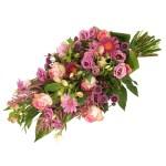 Rouwboeket roze rouwbloemen bestellen of bezorgen