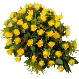 Rouwstuk gele rozen bestellen of bezorgen