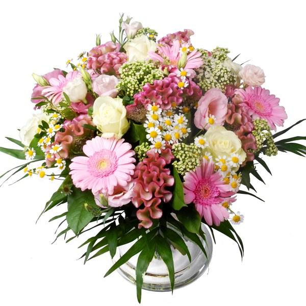 Roze en witte bloemen bestellen of bezorgen