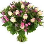 Roze rozen met bloemen bestellen bestellen of bezorgen