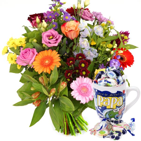 Vaderdag bonte bloemen bezorgen bestellen of bezorgen