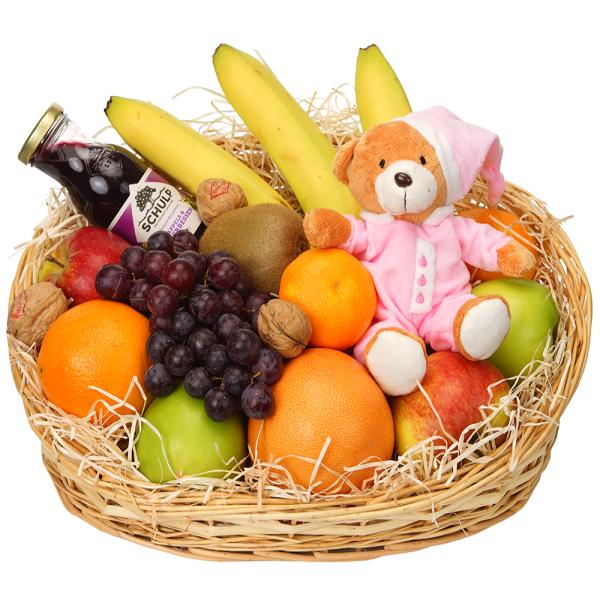 Verse fruit kraamcadeau meisje bestellen of bezorgen