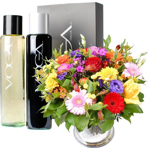 Wijn bloemengeschenk bestellen of bezorgen