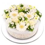 Wit groen bloementaart bestellen bestellen of bezorgen