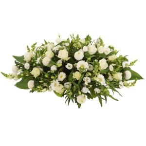 Wit rouwstuk bestellen en bezorgen bestellen of bezorgen