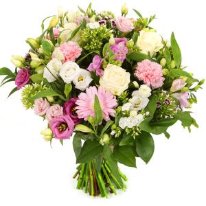 Witte en roze bloemen bezorgen bestellen of bezorgen