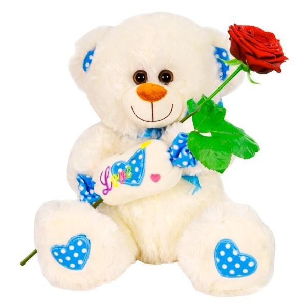 Witte knuffelbeer met love snoep bestellen of bezorgen