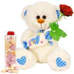 Witte pluche knuffelbeer bestellen of bezorgen