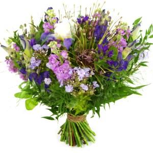 Veldboeket blauw paars lila bestellen of bezorgen