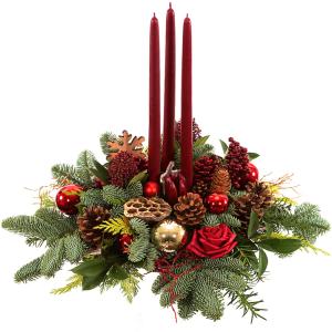Rond tafel kerststuk kopen bestellen of bezorgen