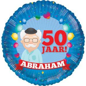 Abraham 50 jaar ballon bestellen of bezorgen online