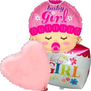 Ballonboeket geboorte meisje cubez bestellen of bezorgen online