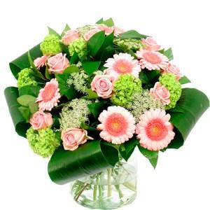 Bloemen buitenland roze - wit bestellen of bezorgen online