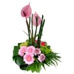Bloemstuk roze lila bestellen of bezorgen online