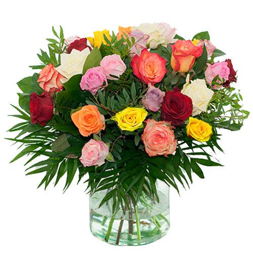 Boeket gemengde rozen bestellen of bezorgen online