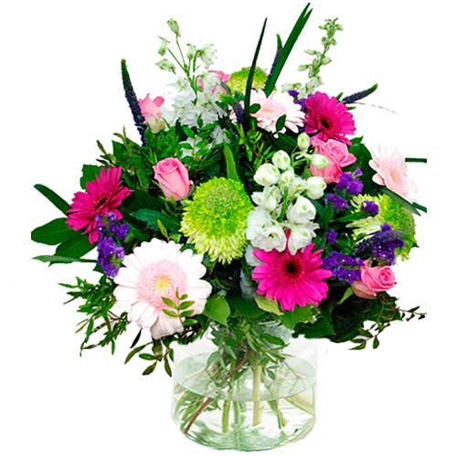 Boeket roze - wit - paars bestellen of bezorgen online