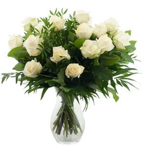 Boeket witte rozen bestellen of bezorgen online