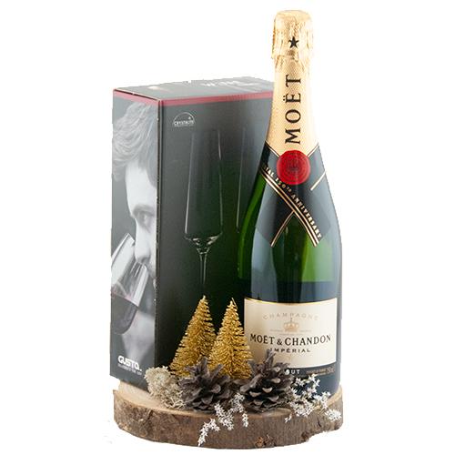 Champagne met kerst decoratie bestellen of bezorgen online