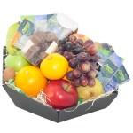 Fruitmand seizoensfruit met thee en chocolade bestellen of bezorgen online