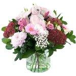 Geboorte boeket Richie pink bestellen of bezorgen online