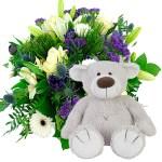 Geboorte boeket beer baggio jongen bestellen of bezorgen online