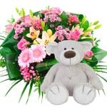 Geboorte boeket beer baggio meisje bestellen of bezorgen online