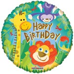 Happy Birthday Jungle ballon bestellen of bezorgen online