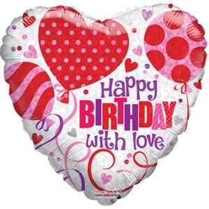Happy Birthday With Love ballon bestellen of bezorgen online