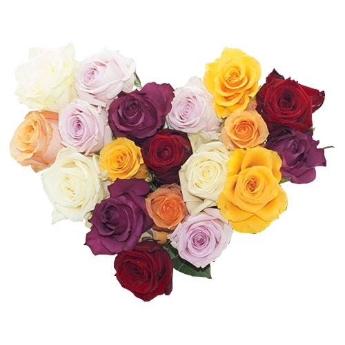 Hartvormig moederdag boeket bestellen of bezorgen online