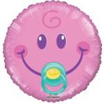 Heliumballon Baby girl smiley bestellen of bezorgen online