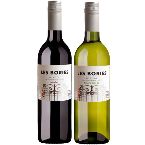 Les Bories duo merlot & chardonnay bestellen of bezorgen online