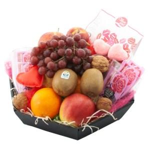 Liefdes fruitmand thee en chocolade bestellen of bezorgen online