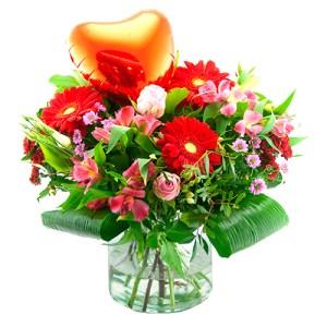 Love boeket met hart ballon bestellen of bezorgen online