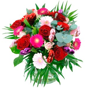 Romantisch boeket rood roze bestellen of bezorgen online