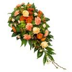 Rouwarrangement oranje bestellen of bezorgen online