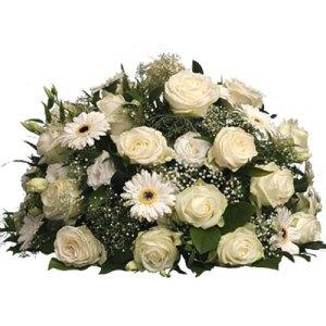Rouwarrangement witte bloemen bestellen of bezorgen online
