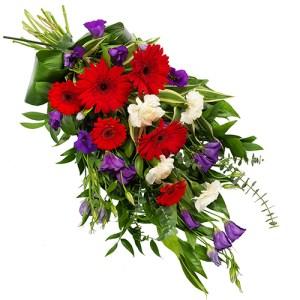 Rouwboeket rood paars wit bestellen of bezorgen online